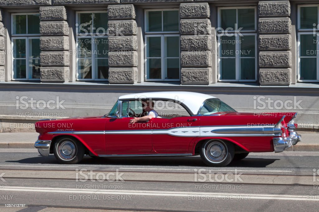 Pontiac Star Chief Tallinn, Estonia - June 15 2019: The Pontiac Star Chief is an automobile model which was manufactured by Pontiac between 1954 and 1966. American Culture Stock Photo