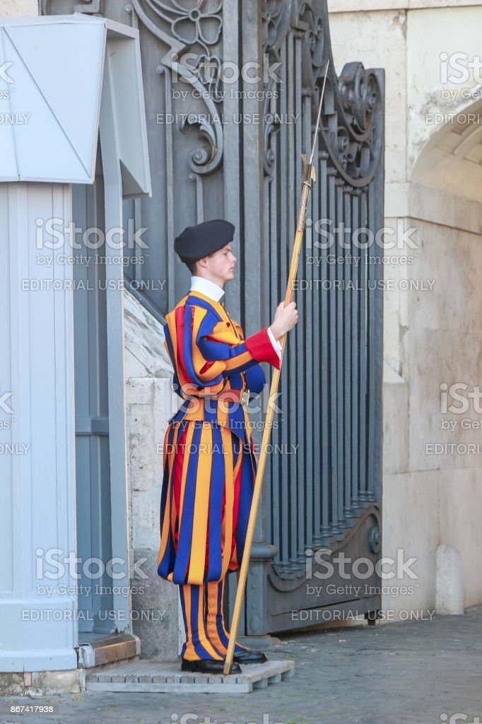 Pontifical Swiss Guard stock photo