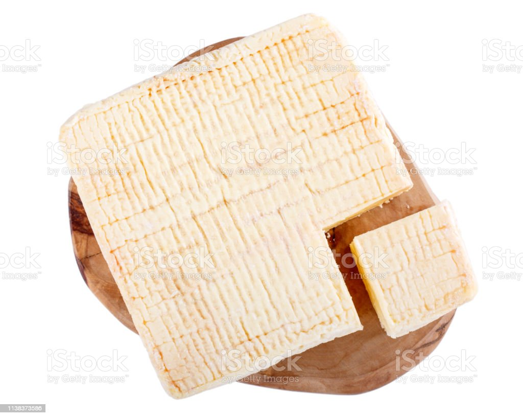 Pontleveque Cheese Isolated On White Soft French Cows Milk Cheese From Normandy Top View Stock Photo Download Image Now Istock