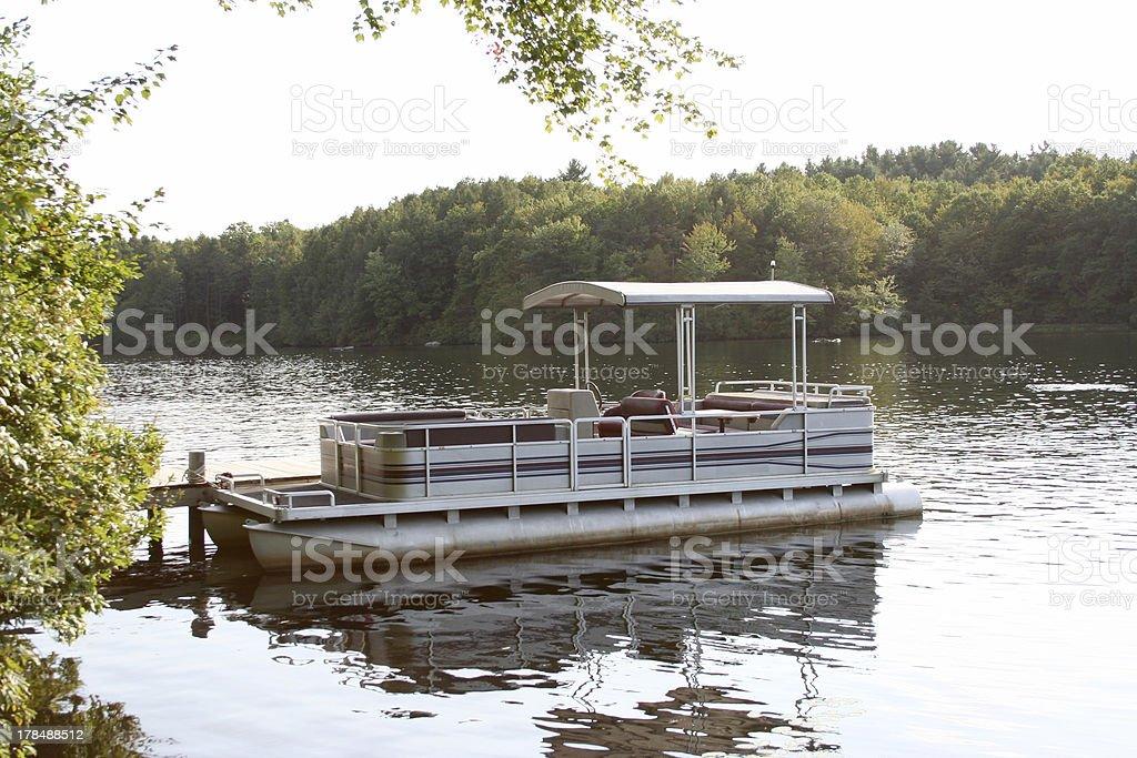 pontoon boat royalty-free stock photo