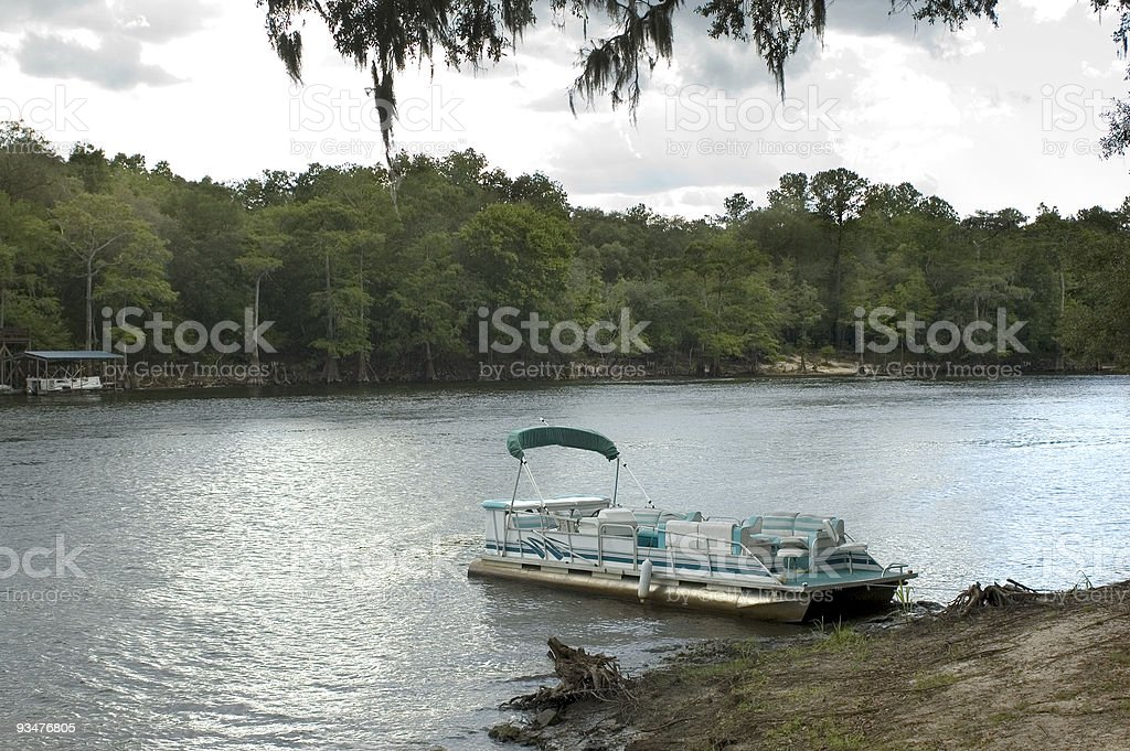 Pontoon Boat stock photo
