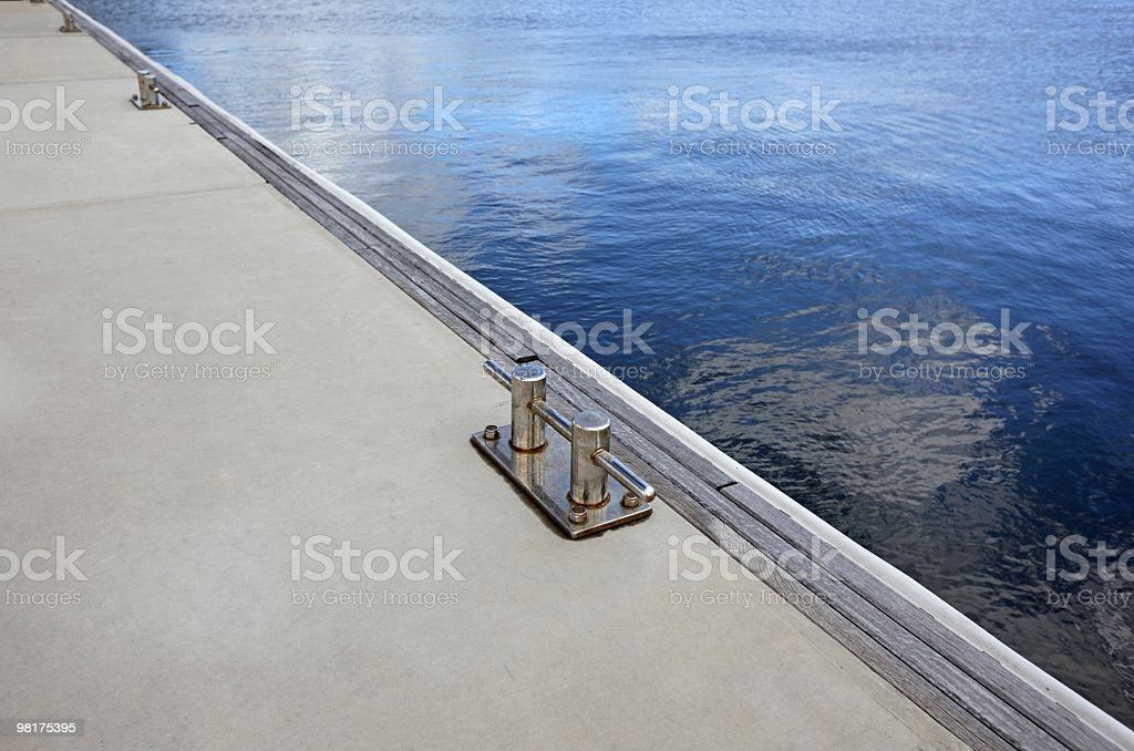 Pontoon on water royalty-free stock photo
