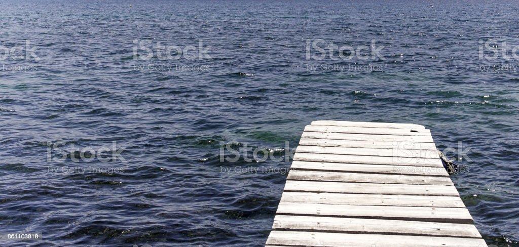 Ponton à la mer royalty-free stock photo