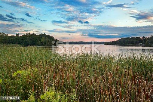Dusk at Pontoosuc Lake in the Berkshires Hills of Western Massachusetts