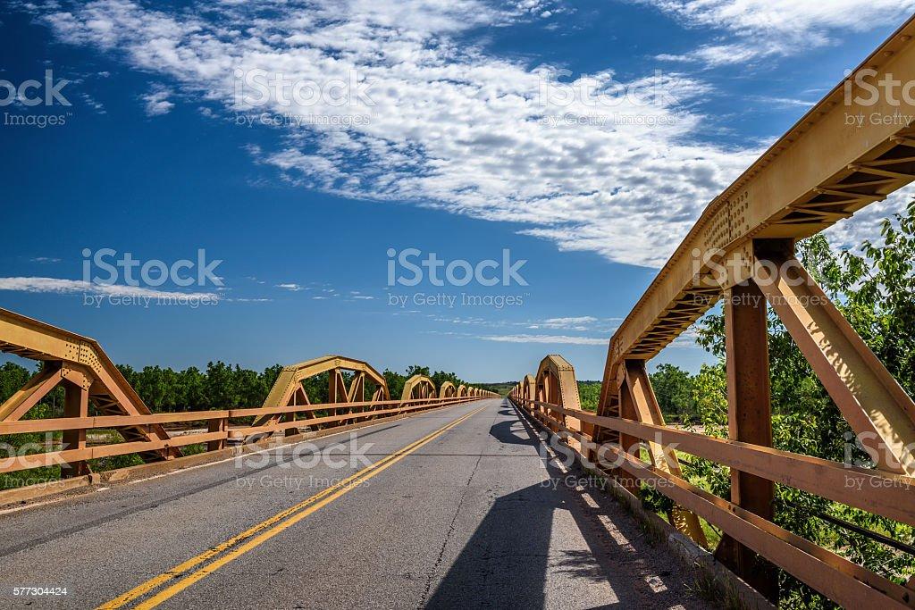 Pony Bridge on route 66 in Oklahoma stock photo