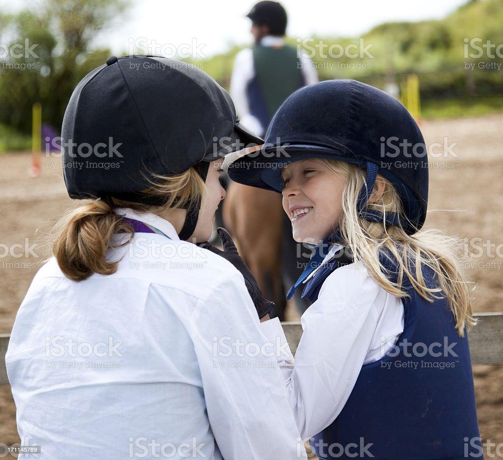 pony club activity stock photo