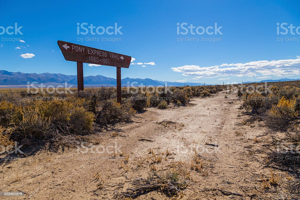 Pony Express Trail stock photo