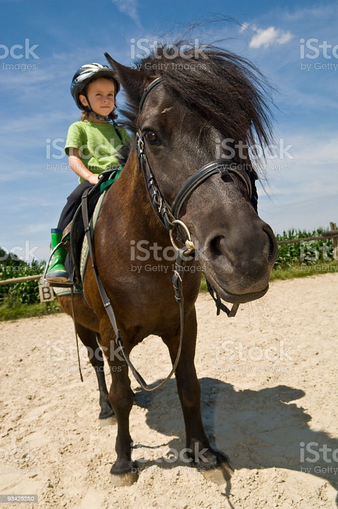 Pony Riding Girl royalty-free stock photo