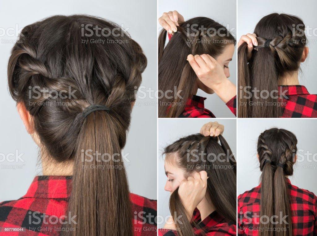Pony Tail Frisur Tutorial Stockfoto Und Mehr Bilder Von Atelier
