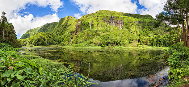 Poço da Alagoinha-isla de Flores-Azores (Portugal) - foto de stock