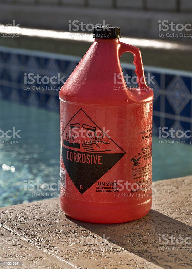 Ácido de la piscina - foto de stock