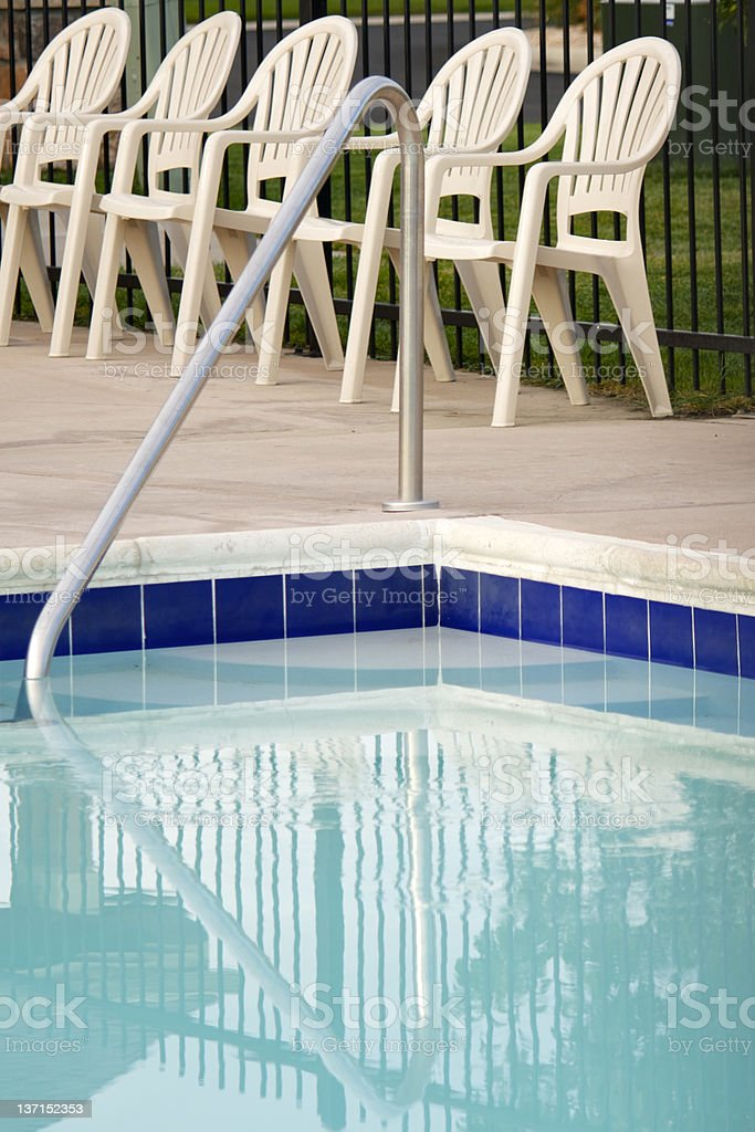 Pool and Deck Chairs royalty-free stock photo