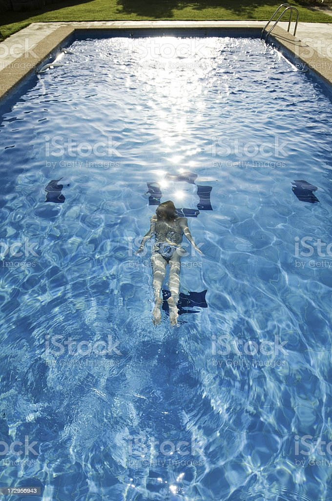 pool and garden royalty-free stock photo