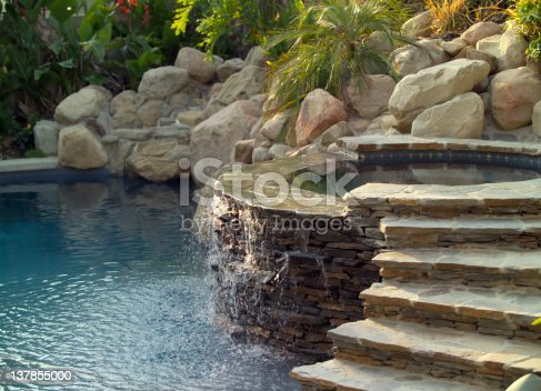 A backyard swimming pool.