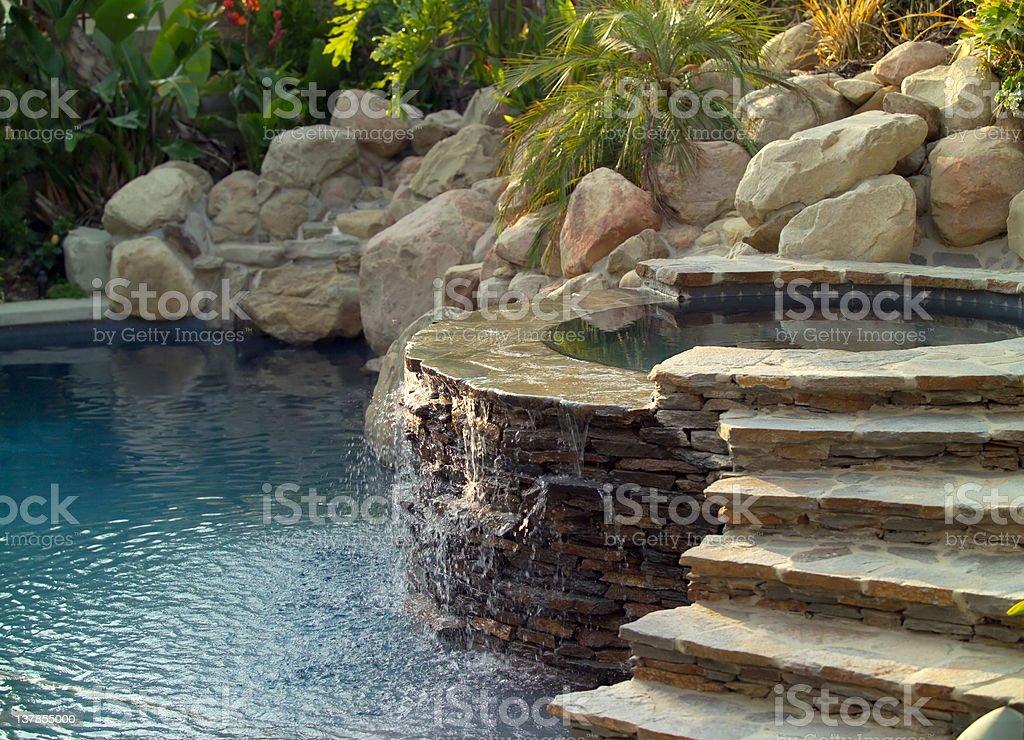pool and jacuzzi stock photo