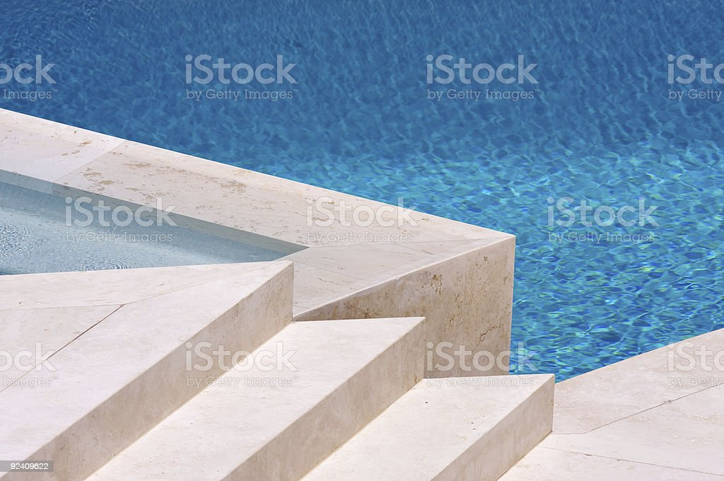 Pool and Steps Abstract stock photo