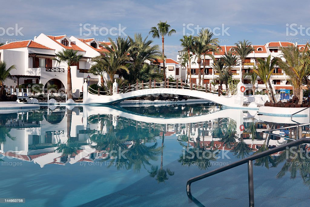 pool at hotel royalty-free stock photo