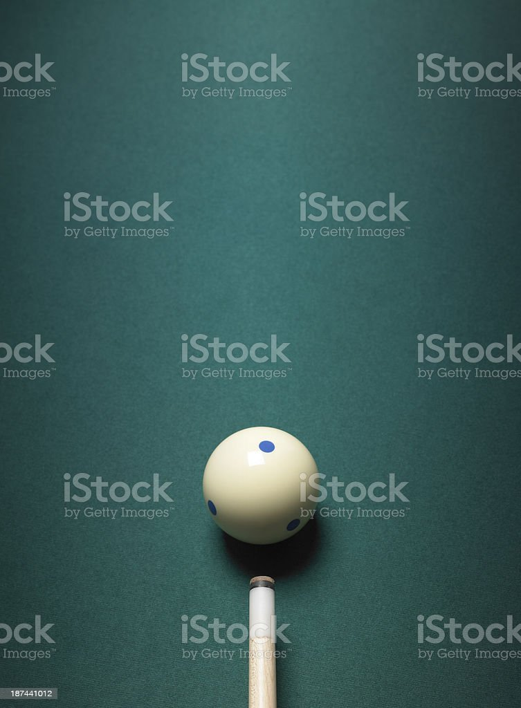 Pool cue ball und Lizenzfreies stock-foto