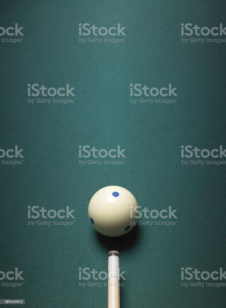 Pool cue ball und – Foto
