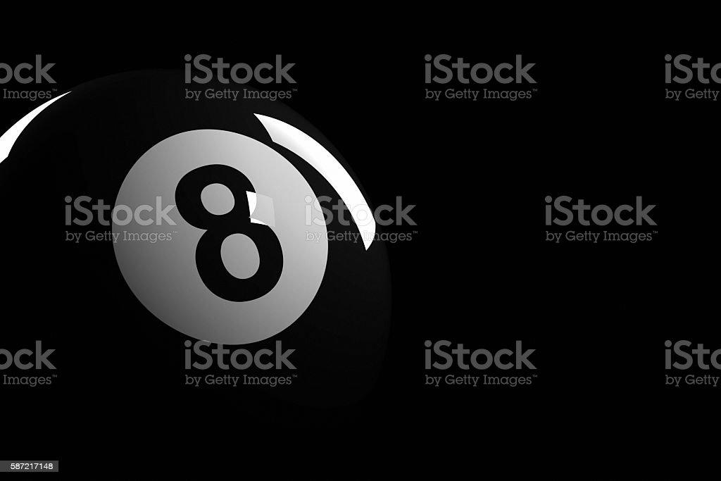 Pool Ball Number 8, 3D Rendering - foto de stock