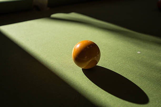 Pool ball on the table stock photo