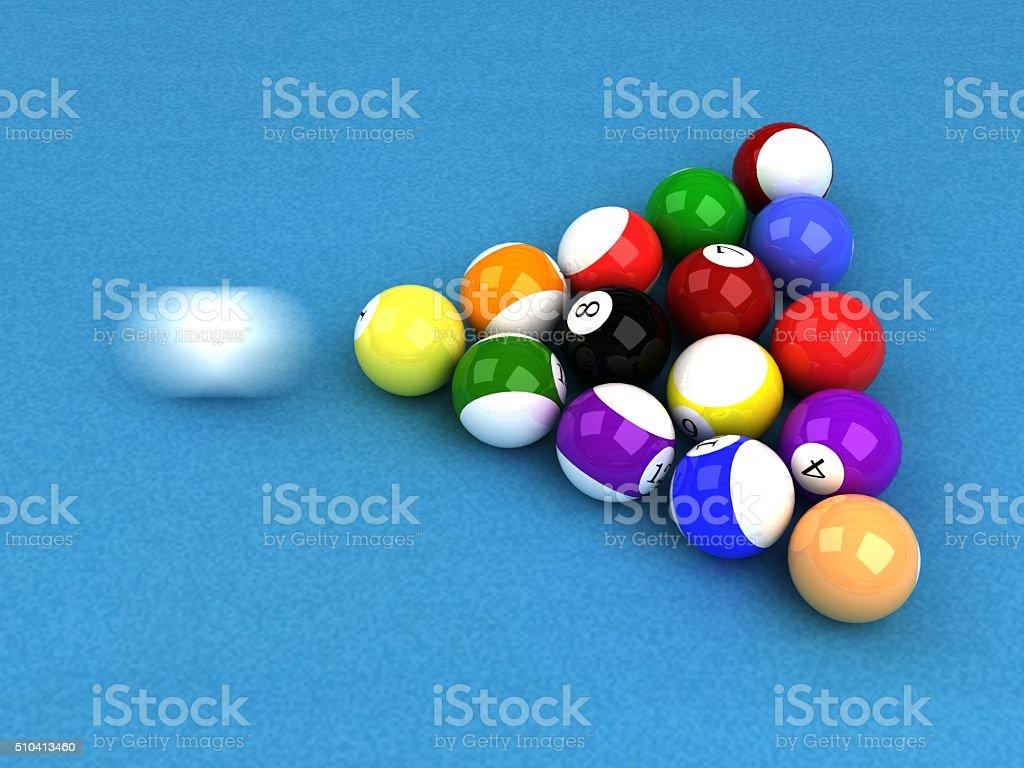 pool ball table stock photo