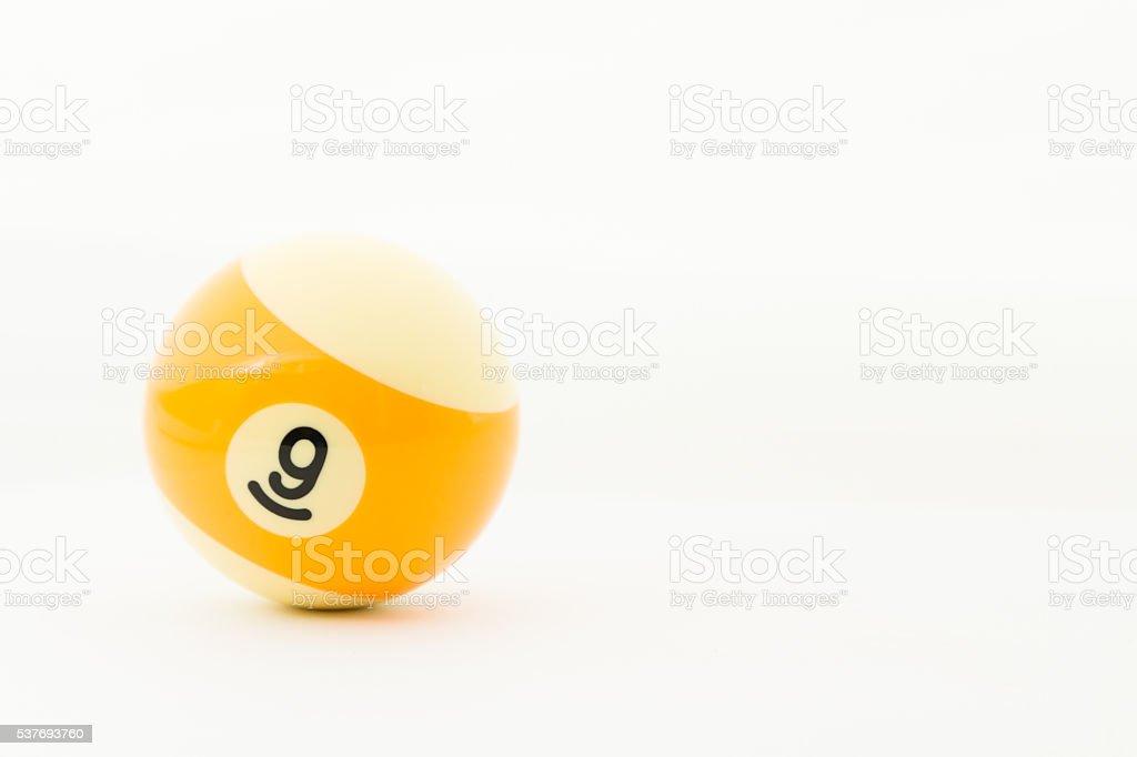 pool balls isolated on white - foto de stock