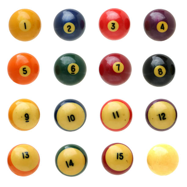 pool balls - cue ball stock pictures, royalty-free photos & images