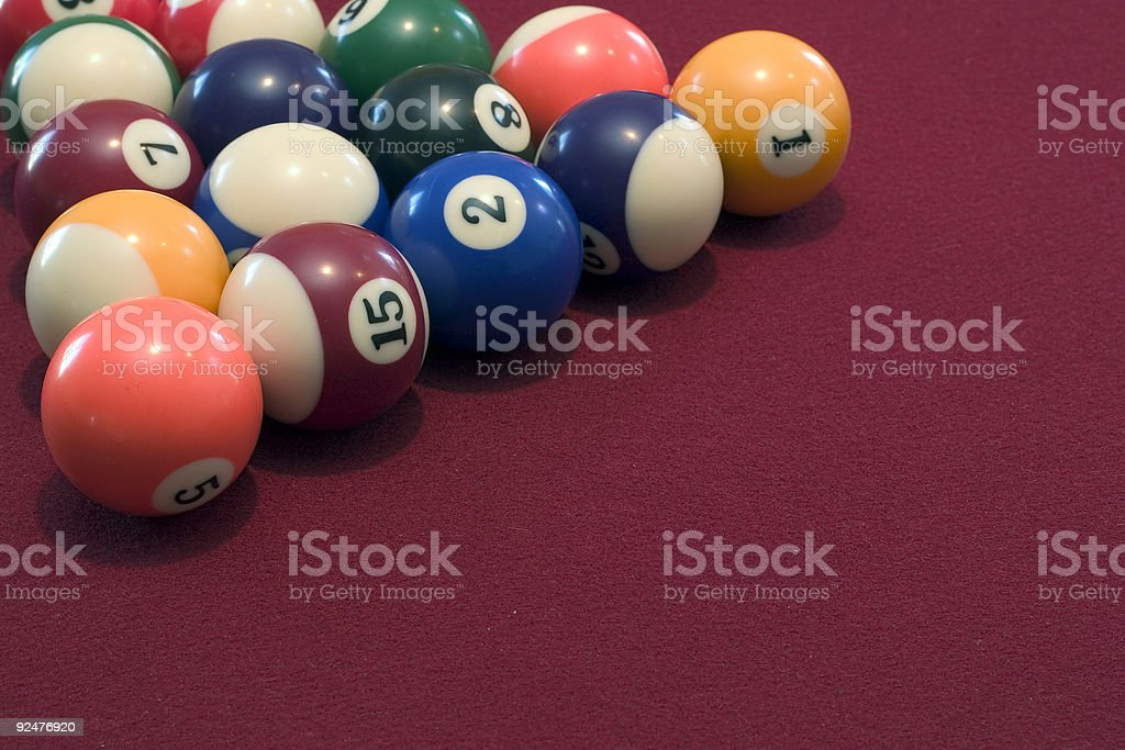 Pool-Bälle Lizenzfreies stock-foto