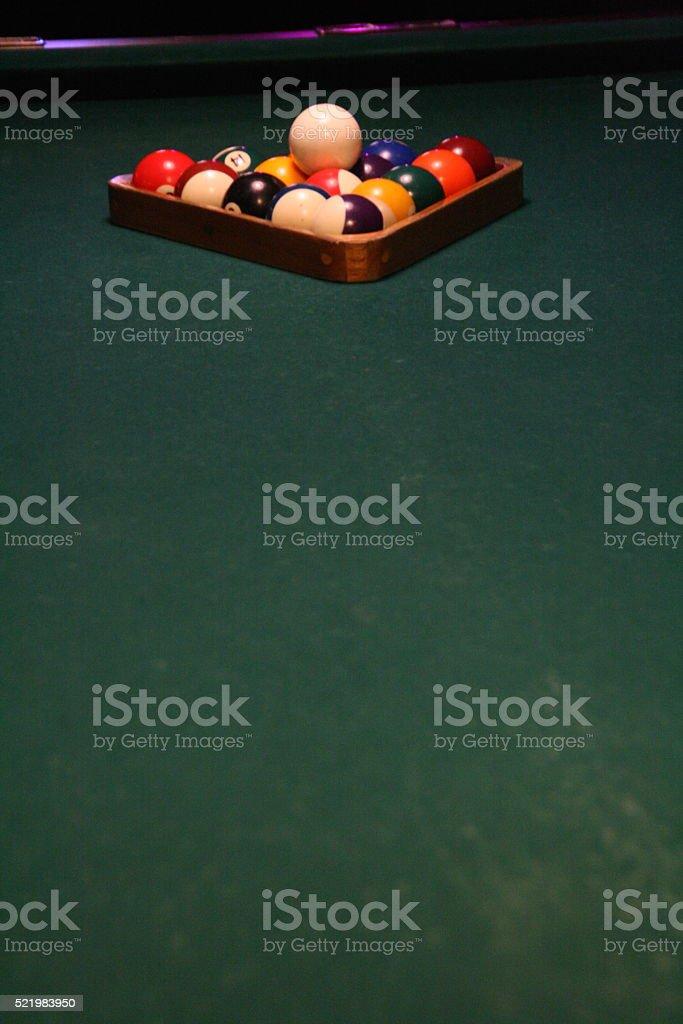 Pool Balls Racked stock photo