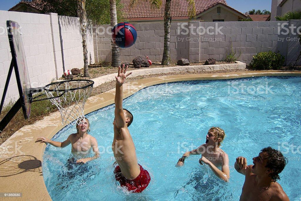 Pool Basketball 14 stock photo