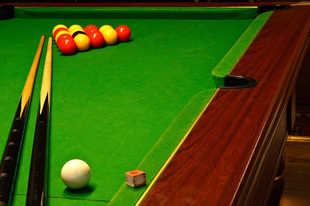 pool billiards table - cue ball stock pictures, royalty-free photos & images