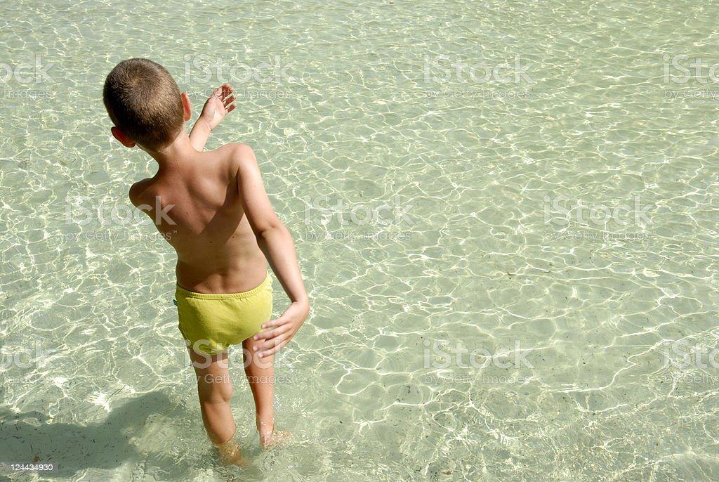 Pool Boy royalty-free stock photo