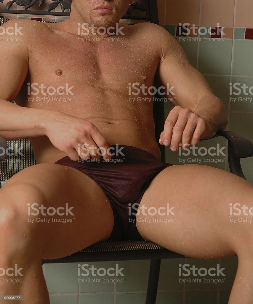 pool boy stock photo