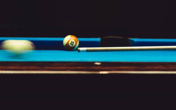 pool break - pool cue stock photos and pictures