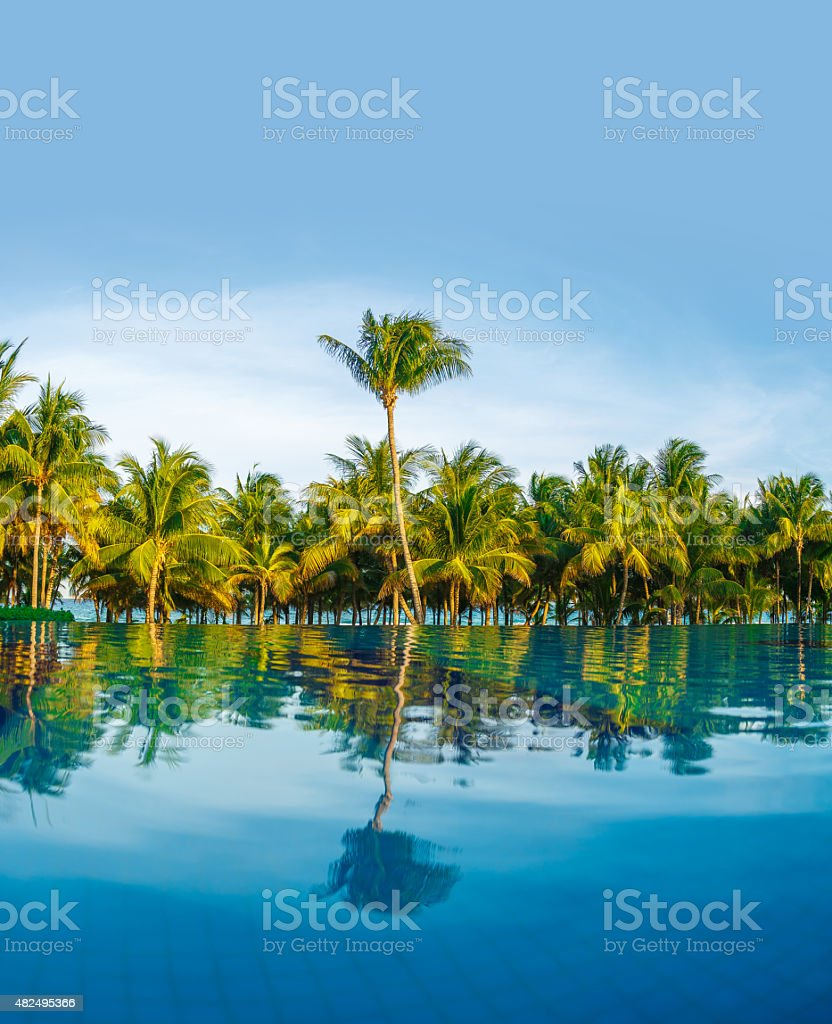 Caribbean Beach: Pool Caribbean Beach Stock Photo
