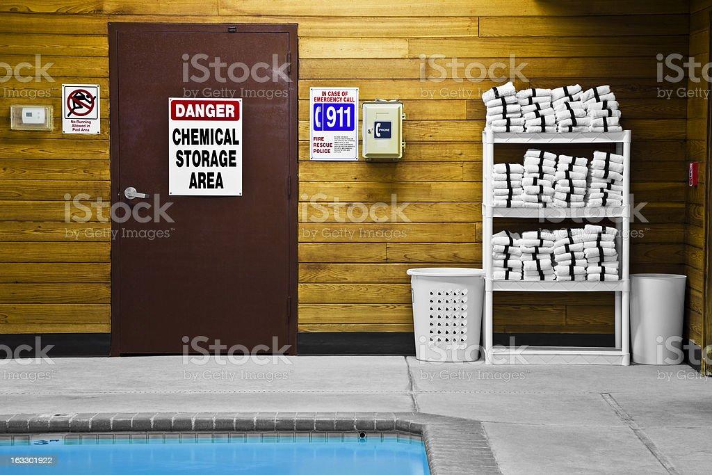 Pool Chemical Storage Area stock photo