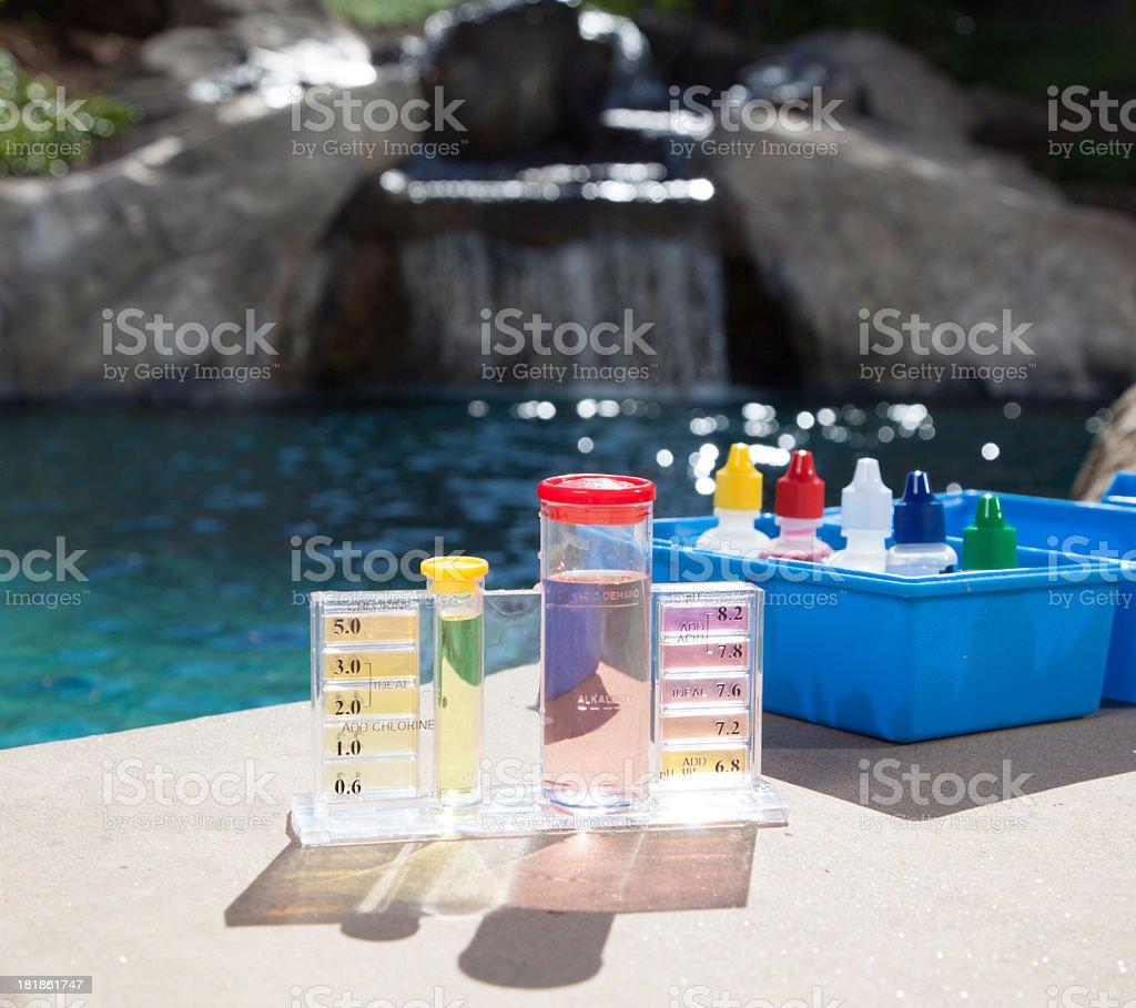 Pool Chemistry Testing stock photo