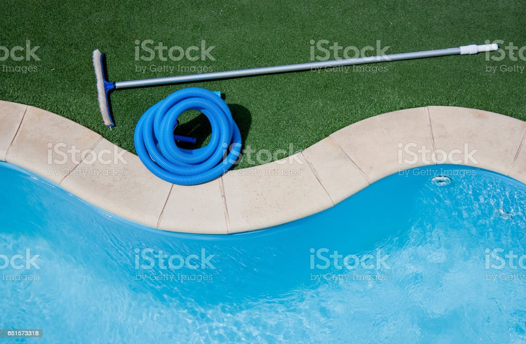 Pool Cleaning Equipment Stock Photo - Download Image Now ...