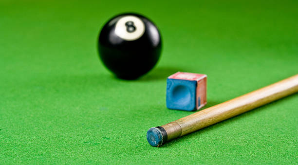 pool composition - pool cue stock photos and pictures