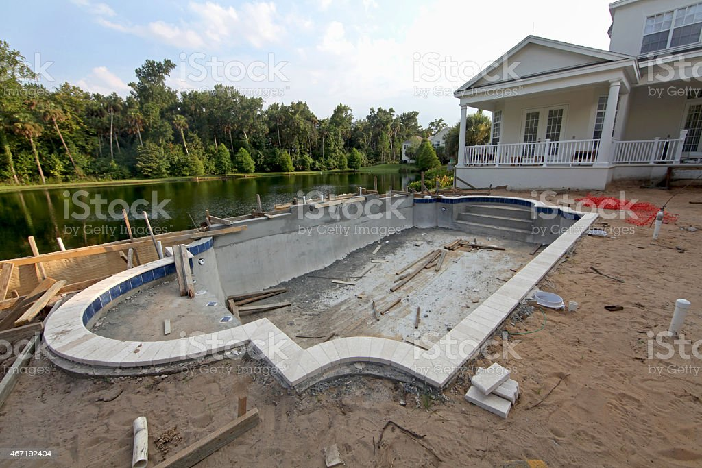 Pool Construction stock photo