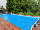 istock Pool cover for winter protection 1248948493