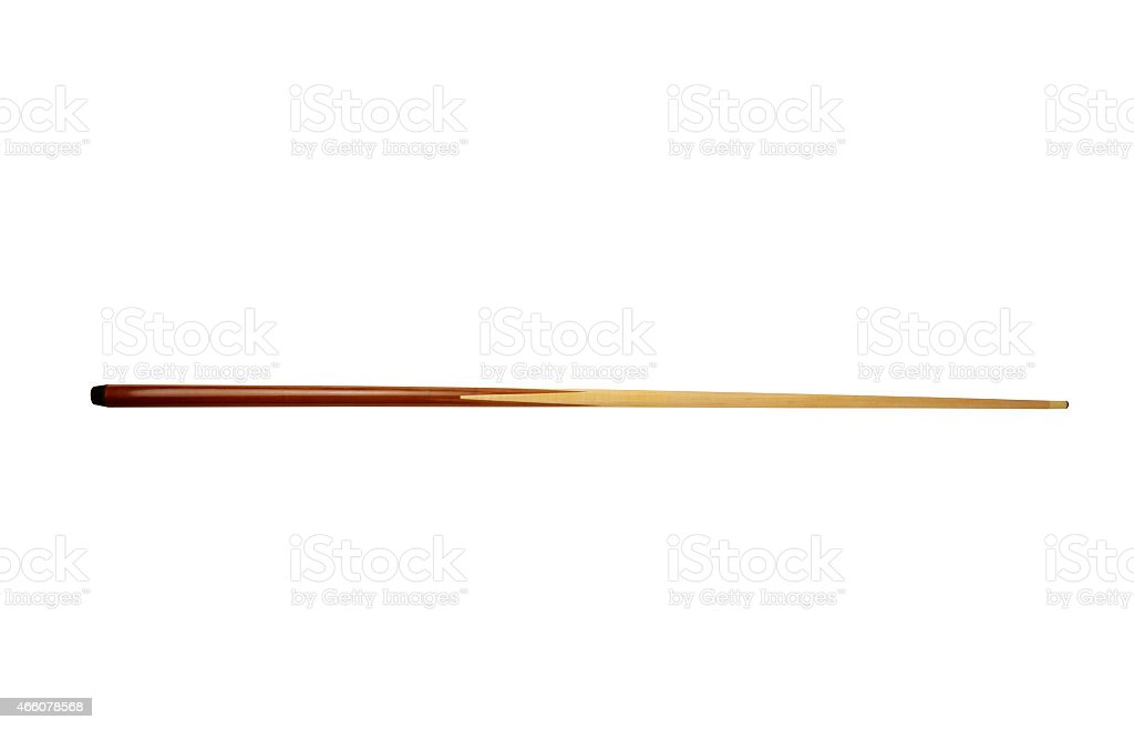 Pool  cue isolated on the white stock photo