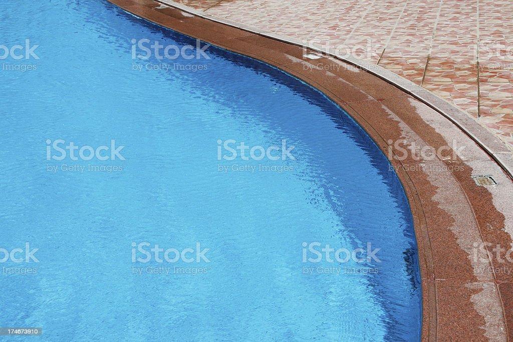 Pool Edge royalty-free stock photo