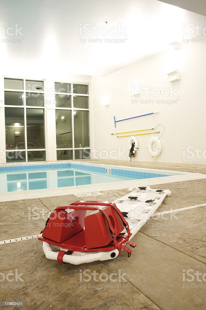 pool first aid equipment royalty-free stock photo