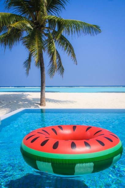 Pool float in watermelon design