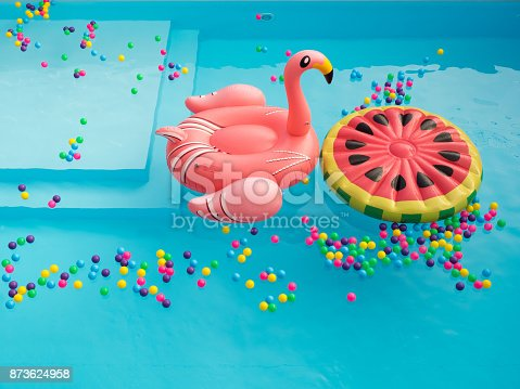 istock Pool Floaties colorful 873624958
