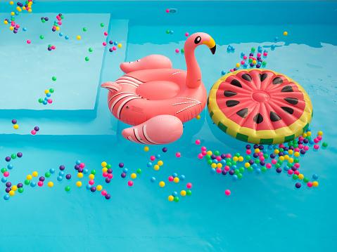 istock Pool Floaties colorful 873624958