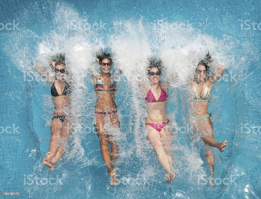 Pool Fun, Splash (XXXL) stock photo