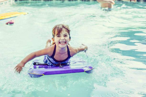 Pool Fun Summer stock photo